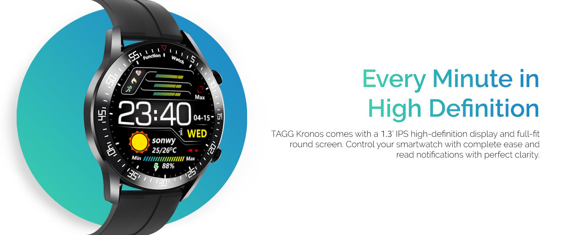 Best Smartwatch Under 5000 in India (TAGG Kronos Image 3)