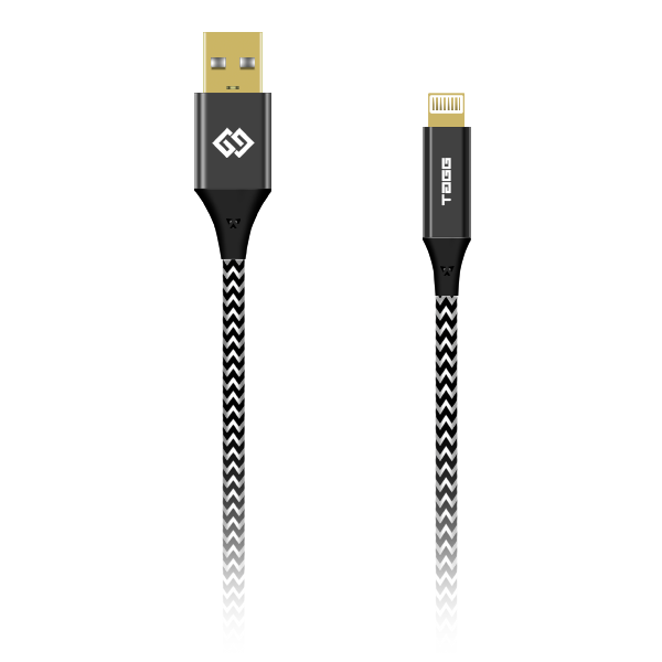 Nylon Braided Lightning USB Cable - 6.6 Feet