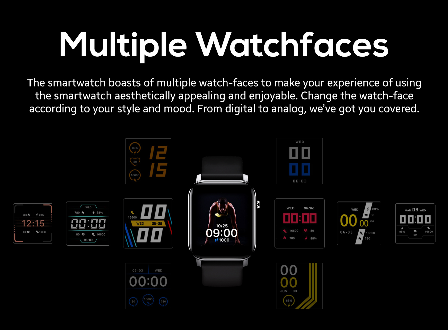 Multiple Watch Faces in Smartwatch