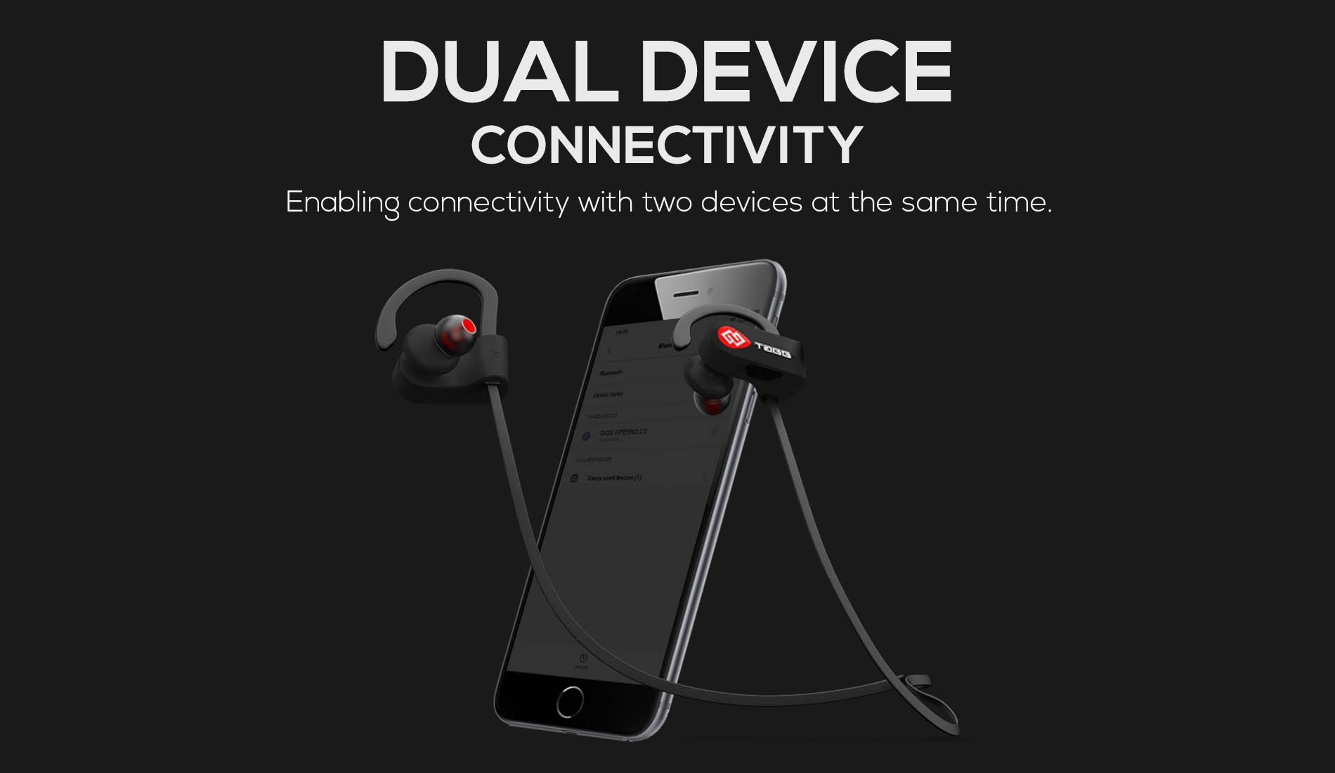 Dual Device Wireless In-Ear Headphones