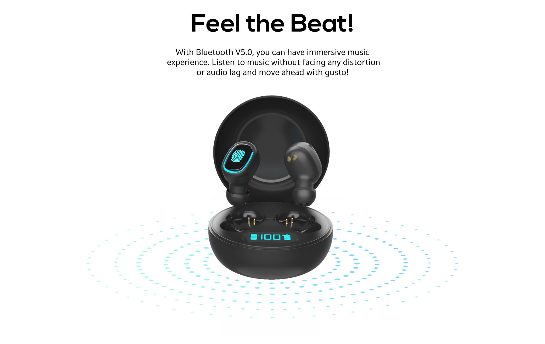 Liberty True Wireless Earbuds feel the beat