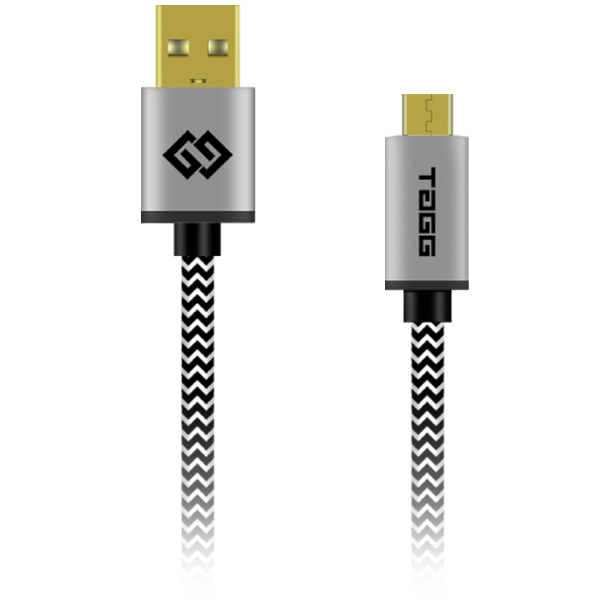 TAGG Powerline Nylon Braided Micro USB Cable