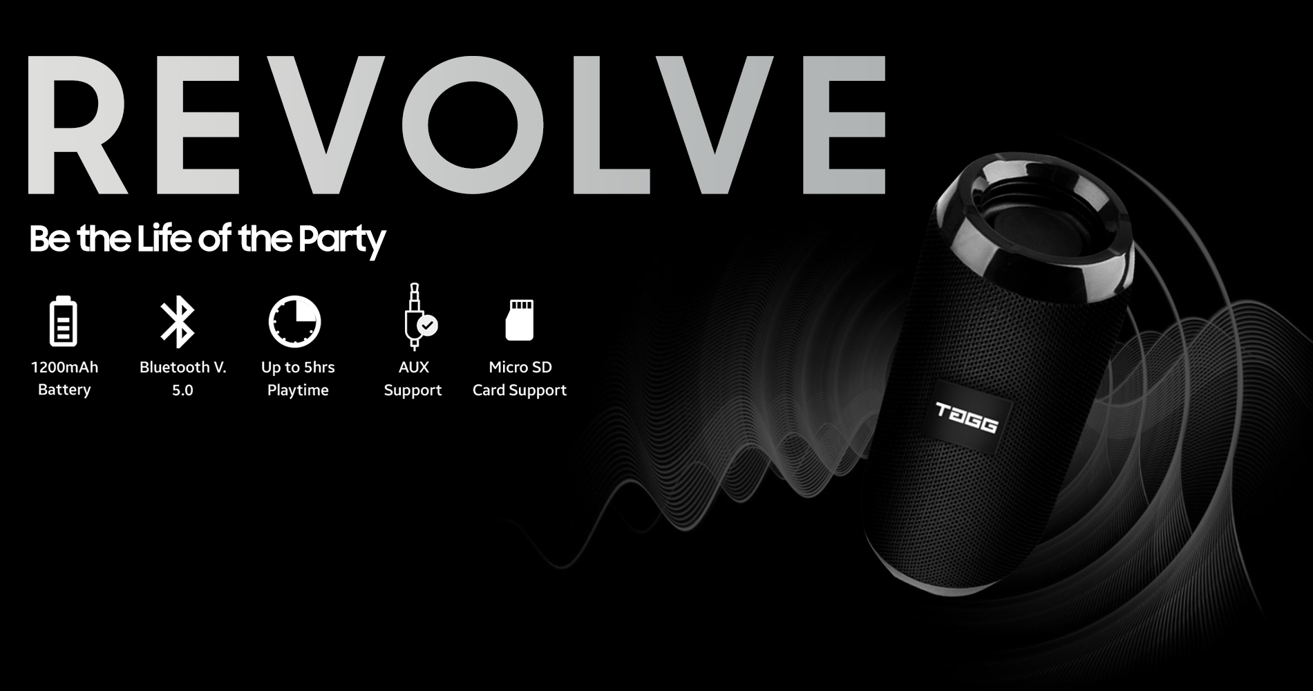 Revolve Portable Bluetooth Speaker